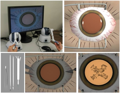 A virtual training simulator for learning cataract surgery with phacoemulsification